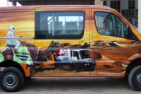 Graffiti auf Mercedes Sprinter, 2007 .. (2)